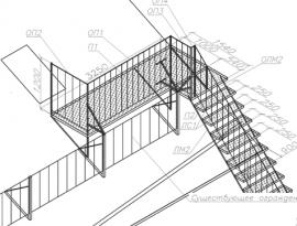 проектирование пожарной лестницы на фасаде здания