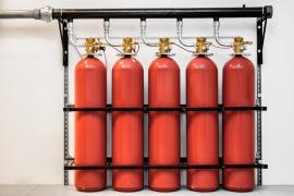 Принцип работы газового пожаротушения